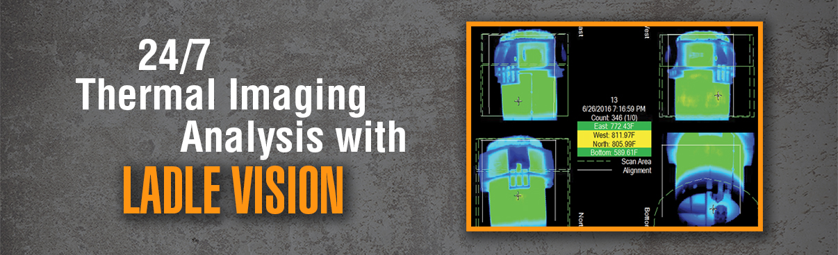 24/7 thermal imagining analysis with Ladle Vision